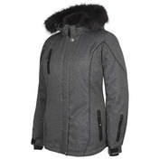 Adventurer Jacket en Nylon Charcoal hachuré
