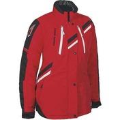 HR7 Ladies Nylon Jacket  Pimento Red/Black & White Trim