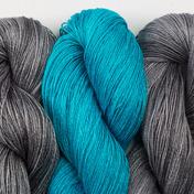 Aviendha Shawl Kit - Turquoise & Graphite