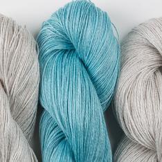 Aviendha Shawl Kit - Silver Shimmer & Lakeside Liz