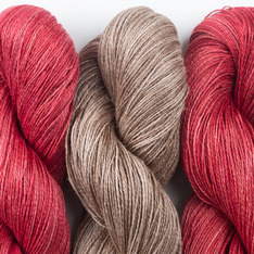 Aviendha Shawl Kit - Paprika & Sand in Your Shoes