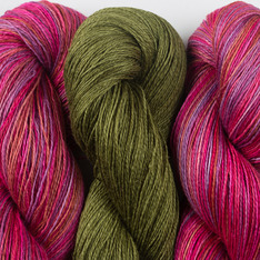 Aviendha Shawl Kit - Gobstopper & River Bank Grass