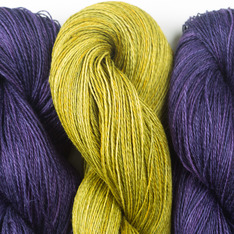 Aviendha Shawl Kit - Grape Jelly & Moss