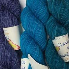 Verum Shawl Kit - Ice, Turquoise, Indian Turquoise