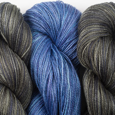 Aviendha Shawl Kit - Navy Olive & Deep Blue