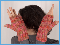 Crossroads & Roundabout Fingerless Gloves