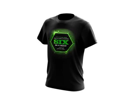T-SHIRT JONATHAN REA WORLD CHAMPION 2020: 6 IN A ROW M figura
