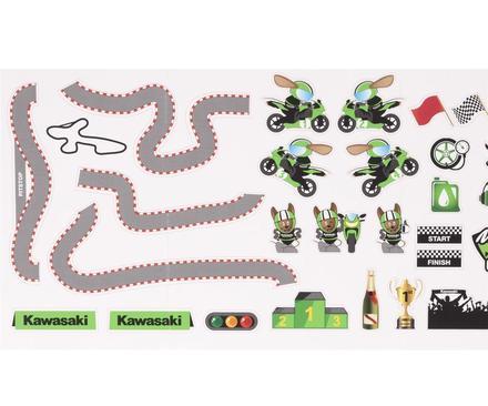 Set Adesivi Pista Kawasaki figura
