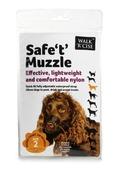 Safe 't' Muzzle Size 2 black nose size 14cm