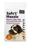 Safe 't' Muzzle Size 5 black nose