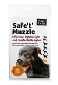 Safe 't' Muzzle Size 4 black nose
