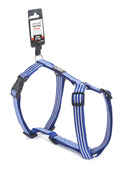 Striped Dog Harness - Medium Blue