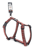 Tartan Dog Harness - Medium Red