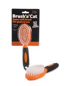 Brush 'a' Cat Orange/Black