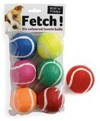 Fetch Tennis Balls 6pk Assorted 6cm Ball