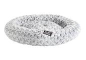 DND Lux Round Plush - Grey & Cream Cat Bed