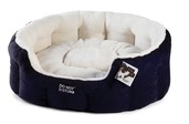 Luxury Oval Bed - Blue & Plush Blue