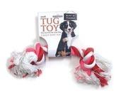 Small 2 Knot Tug Toy 90G Pink/white Blue/white Black/white 2 cm x 22cm