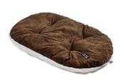 Oval Cushion Brown Plush 60cm