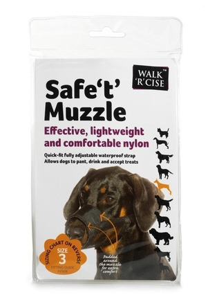 Safe 't' Muzzle Size 3 black nose picture