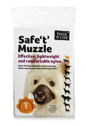 Safe 't' Muzzle Size 1 black nose picture