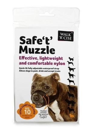 Safe 't' Muzzle Size 10 black nose picture