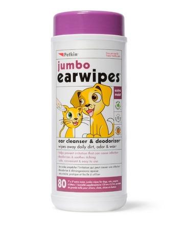 Jumbo Ear Wipes - 80pk picture