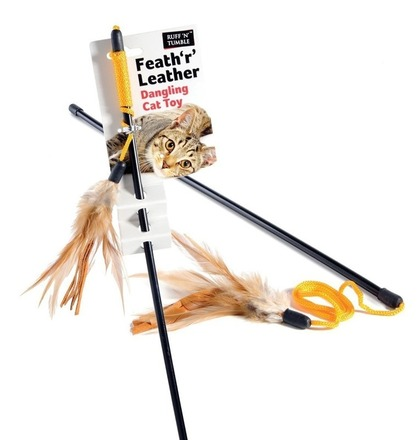 Feath 'r' Leather Dangling Cat Toy picture