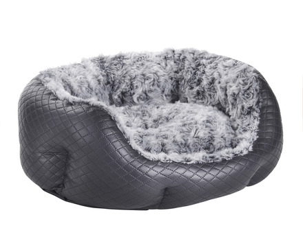 MINI QUILTED BLACK PET BED picture