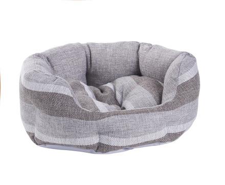 MINI GREY STRIPE PET BED picture