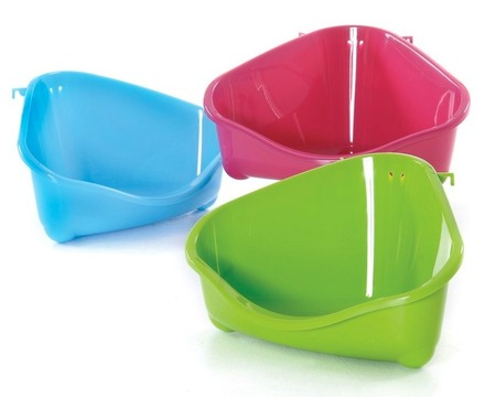 Corner Litter Pan Medium orange, fun green, royal blue picture