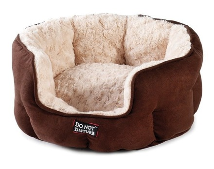 Luxury Oval Cat Bed - Chocolate picture