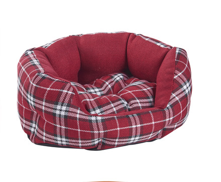 MINI RED TARTAN PET BED picture