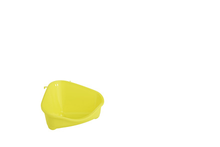 Corner Litter Pan, Mini, Yellow 18cm picture