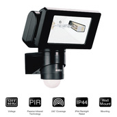 HS 150B 150 Watt Halogen Motion Sensor Light Black
