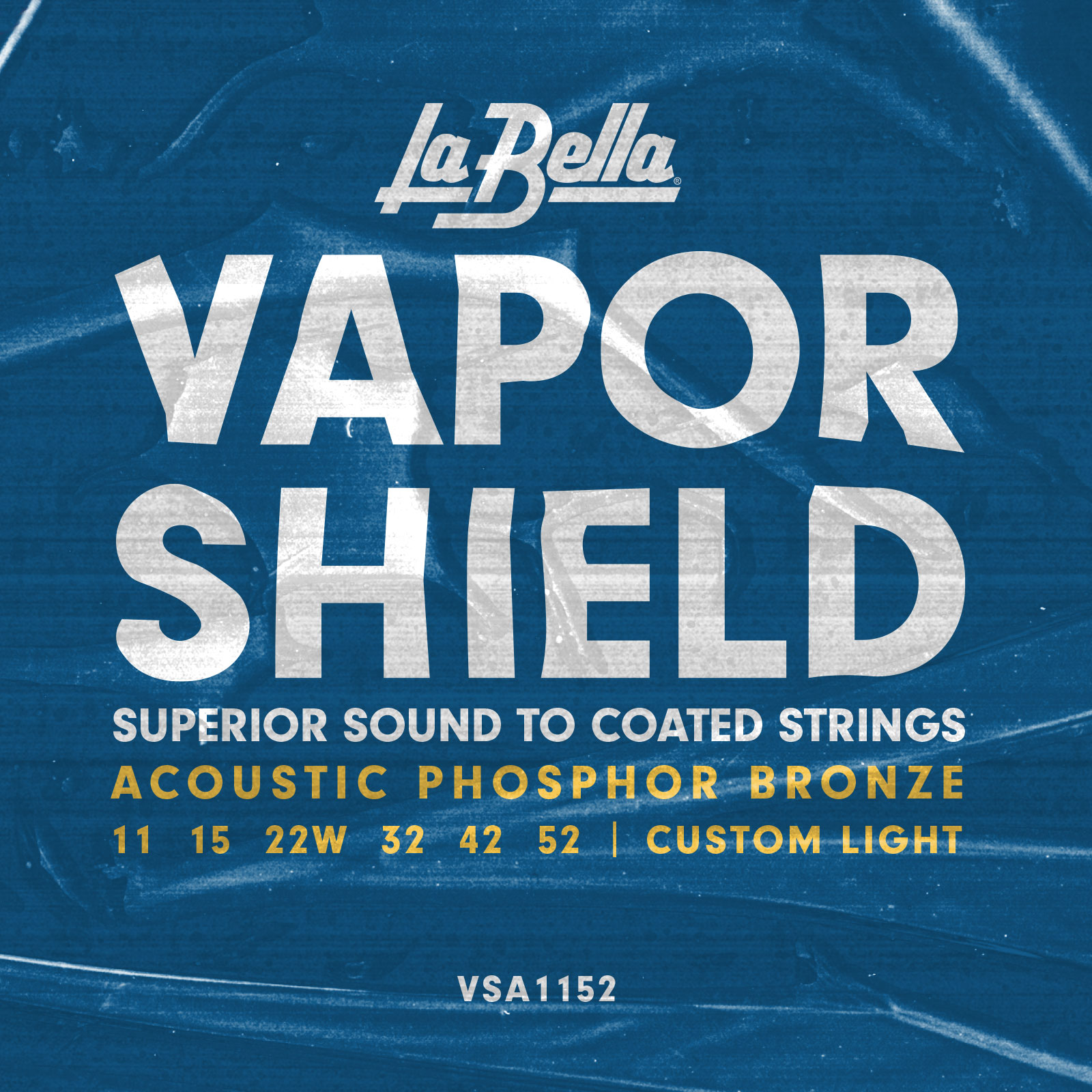 vsa1152 vapor shield acoustic guitar strings custom light 11 52 la bella strings. Black Bedroom Furniture Sets. Home Design Ideas