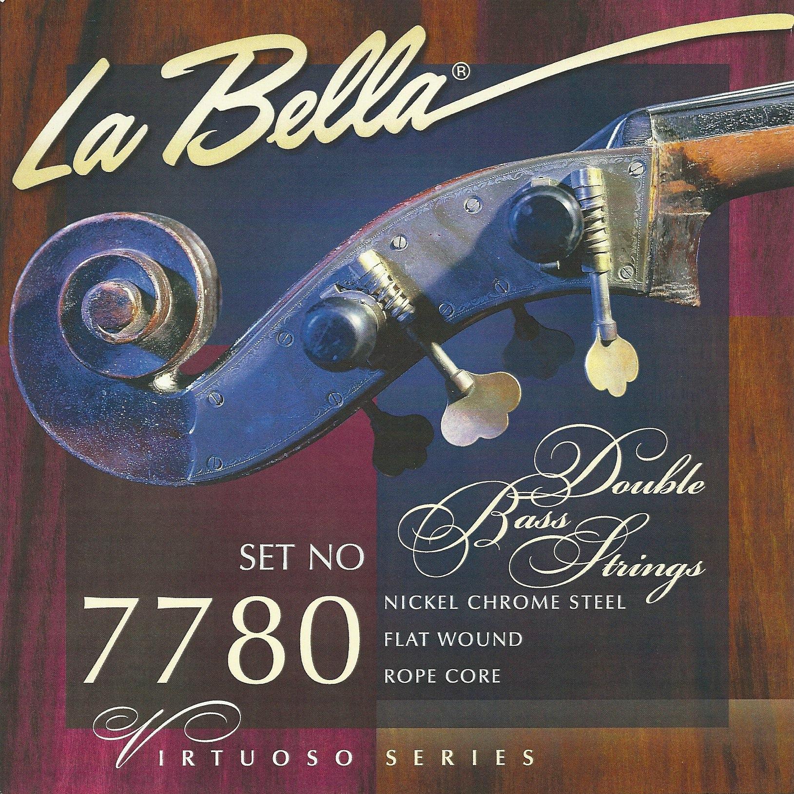 7710n double bass black nylon tape wound la bella strings. Black Bedroom Furniture Sets. Home Design Ideas