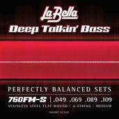 760FM-S Deep Talkin' Bass Flats - Medium 49-109, Short Scale