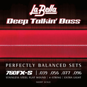 760FX-S Deep Talkin' Bass Flats - Extra Light 39-96, Short Scale