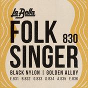 830 Folksinger - Black Nylon