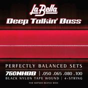 "760NHBB ""Beatle"" Bass Black Nylon Tape - 50-100"