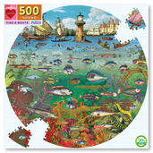 Fish & Boats 500 Pc Round Puzzle