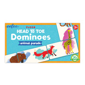 Animal Parade Head to Toe Dominoes