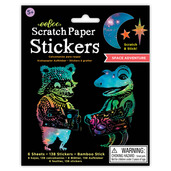 Space Adventure Scratch Paper Stickers