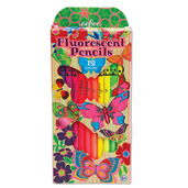 Fluorescent Butterflies Pencils