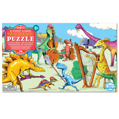 Dinosaurs at Leisure Panoramic 36 Piece Puzzle
