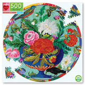 Bouquet & Birds 500 Piece Round Puzzle