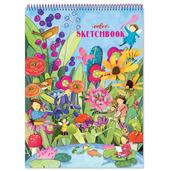 Garden Fairies Striped Biggies Sketchbook