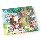 Bear on Bicycle 32 Pastels