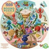 1000 Piece Round Crazy Bug Bouquet Puzzle